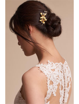 Orchid Garden Hair Comb by Bhldn