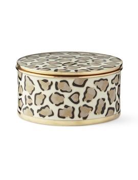 Leopard Cloisonne Round Box by Williams   Sonoma