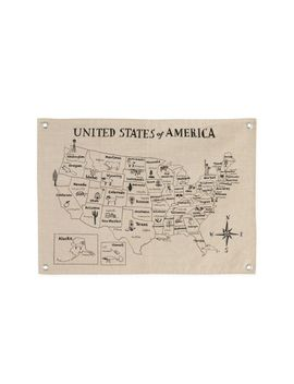 Canvas United States Map by Crate&Barrel