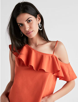 One Shoulder Ruffle Top by Lucky Brand
