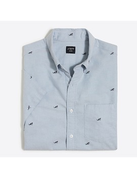 J.Crew Mercantile Short Sleeve Printed Oxford Shirt by J.Crew