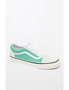 Anaheim Factory Old Skool 36 Dx Green & White Shoes by Vans