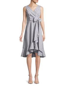 Ruffle Trim Wrap Dress by Calvin Klein
