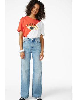 Oversized Block Tee by Monki
