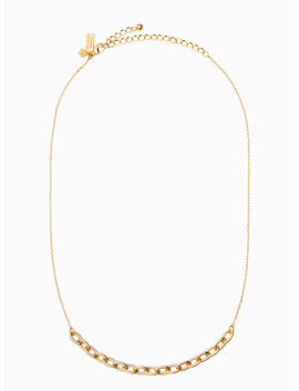 Chain Reaction Link Mini Necklace by Kate Spade