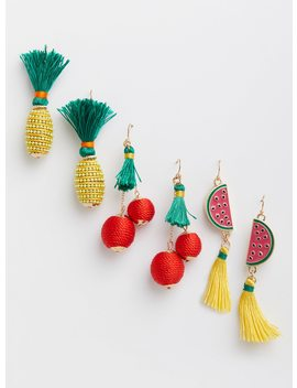Hanging Fruit Earrings   Set Of 3 by Torrid