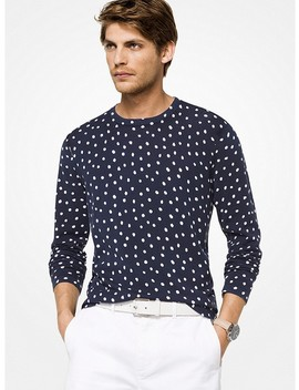 Dot Cotton Pullover by Michael Kors Mens