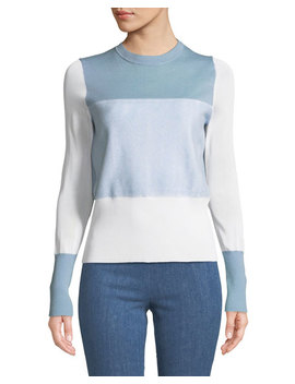 Marissa Colorblock Crewneck Pullover by Rag & Bone