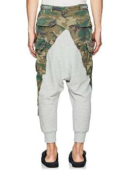 Camouflage Cotton Drop Rise Lounge Pants by Greg Lauren