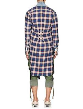 Plaid Flannel &Amp; Denim Long Kimono by Greg Lauren
