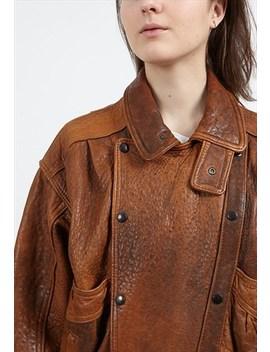 Vintage Brown Leather Jacket by Vintage Lady