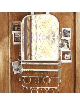 Over The Door Jewelry Organizer Mirror by P Bteen