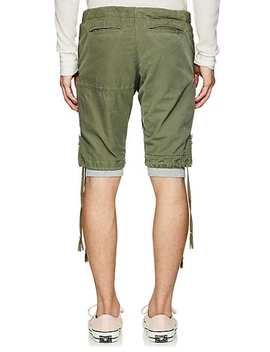 Layered Cotton Canvas Cargo Lounge Shorts by Greg Lauren