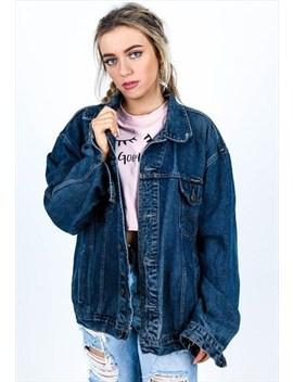 Vintage Denim Jacket J579 by No Brand Name