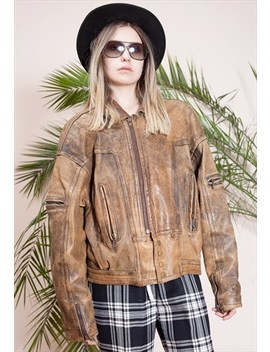 Vintage Soft Real Leather Brown Jacket From The 90s by Miauhaus