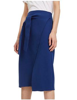 Posh Wrap Tie Midi Skirt by Topshop