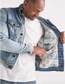 Lightweight Linen Denim Trucker Jacket by Lucky Brand