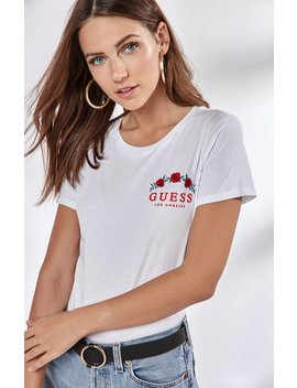 Short Sleeve Cropped T Shirt by Guess