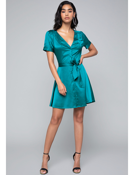 Charmeuse Shirtdress by Bebe