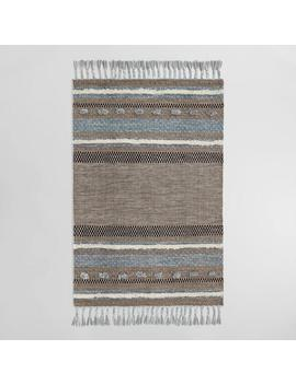 Brown And Blue Kilim Omar Indoor Outdoor Rug by World Market