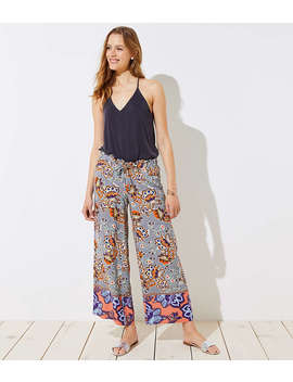 Boho Mosaic Fluid Drawstring Pants by Loft