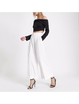 Cream Wide Leg Culottes                                  Cream Wide Leg Culottes by River Island
