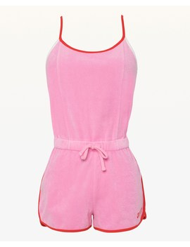 Jxjc Microterry Strappy Logo Romper by Juicy Couture