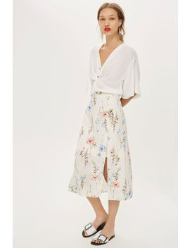 **Midi Front Split Skirt By Oh My Love by Topshop