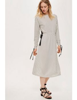 **Ruched Sleeve Polka Dot Dress By Boutique by Topshop