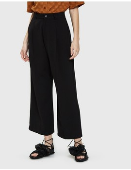 Wide Leg Tuck Pant In Black by Need Supply Co.