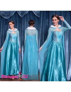 Adult Womens Frozen Snow Queen Elsa Costume Cosplay Party Gown Lady Fancy Dress by Costumes Au