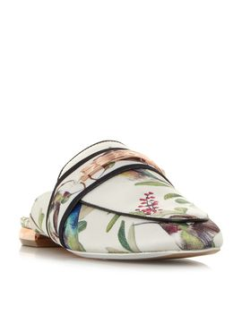 Klovar Print Backless Loafer Shoes by Ted Baker