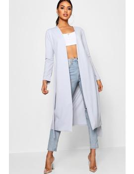 Rosie Ruched Waist Maxi Duster Jacket by Boohoo