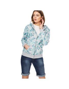 Mantaray   Light Grey Floral Print Sweatshirt by Mantaray