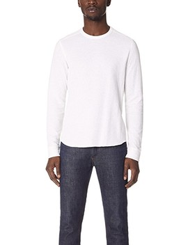 Double Knit Long Sleeve Crew Tee by Vince