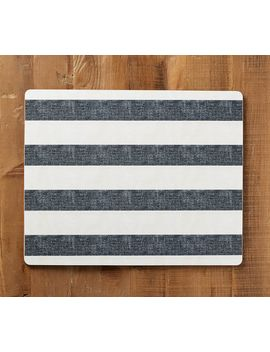 Wheaton Wide Stripe Cork Mat, Set Of 4   Red by Pottery Barn