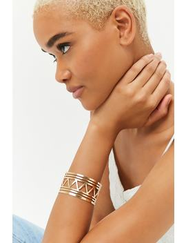 Geo Cutout Cuff Bracelet by Forever 21