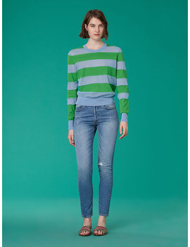 Long Sleeve Color Block Cotton Pull Over&Nbsp; by Dvf