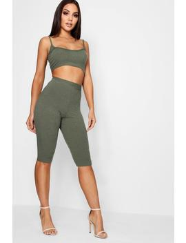 Leah Cycle Short & Top Co Ord by Boohoo