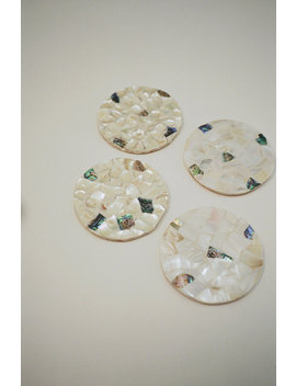 Abaca | Terrazzo Coaster Set   Multi by Lisa Says Gah