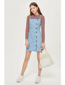 Tall Horn Button Mini Dress by Topshop