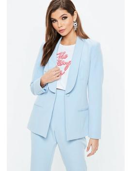 Blue Skinny Tux Blazer by Missguided