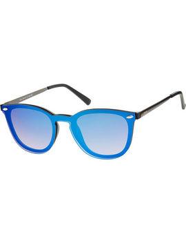 Blue Metallic Preppy Sunglasses by West