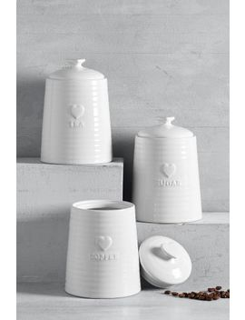 Set Of 3 Heart Storage Jars by Next
