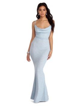Stella Glitter Formal Cowl Dress by Windsor