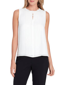 Sleeveless Lace Top by Tahari Asl