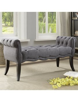 Ophelia & Co. Campbell Traditional Roll Arm Upholstered Bench & Reviews by Ophelia & Co.