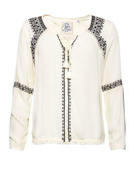 Diamond Stitch Peasant Top by Superdry