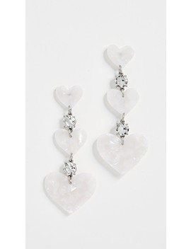 Heart Drop Earrings by For Love &Amp; Lemons