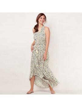 Women's Lc Lauren Conrad Print Halter Maxi Dress by Kohl's